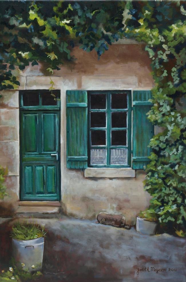 Huisje van meneer Delage - olieverf op linnen - 40x60cm
