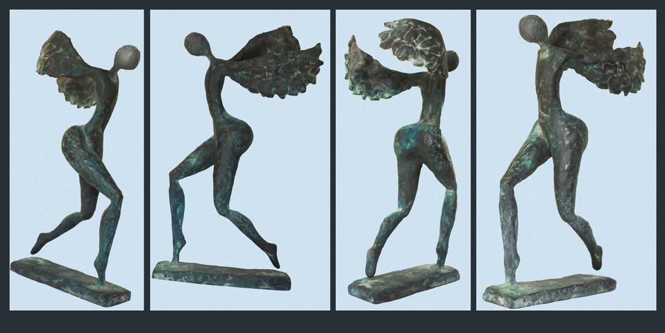 Icarus - brons - 35cm hoog