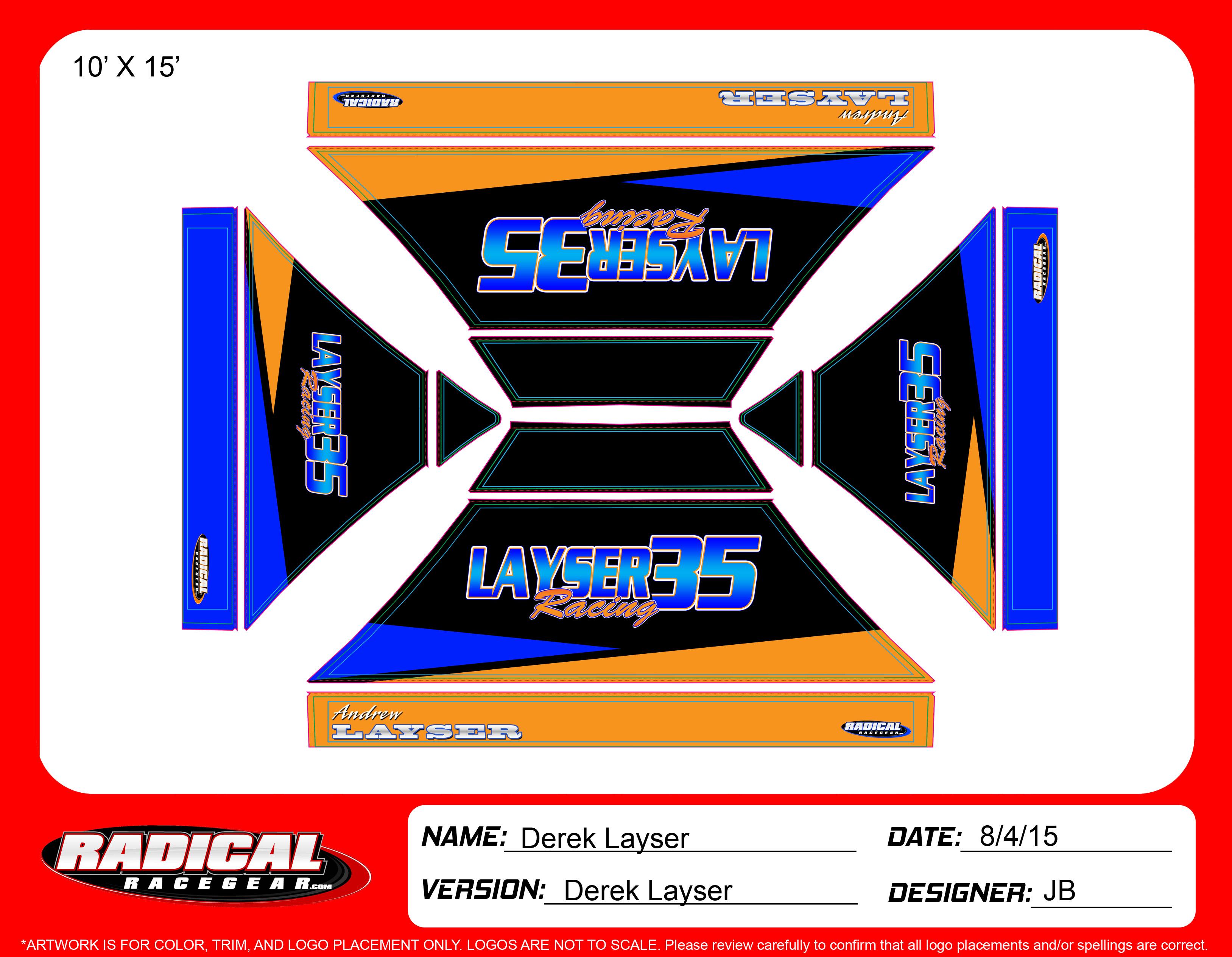 Layser Racing 10'x15'