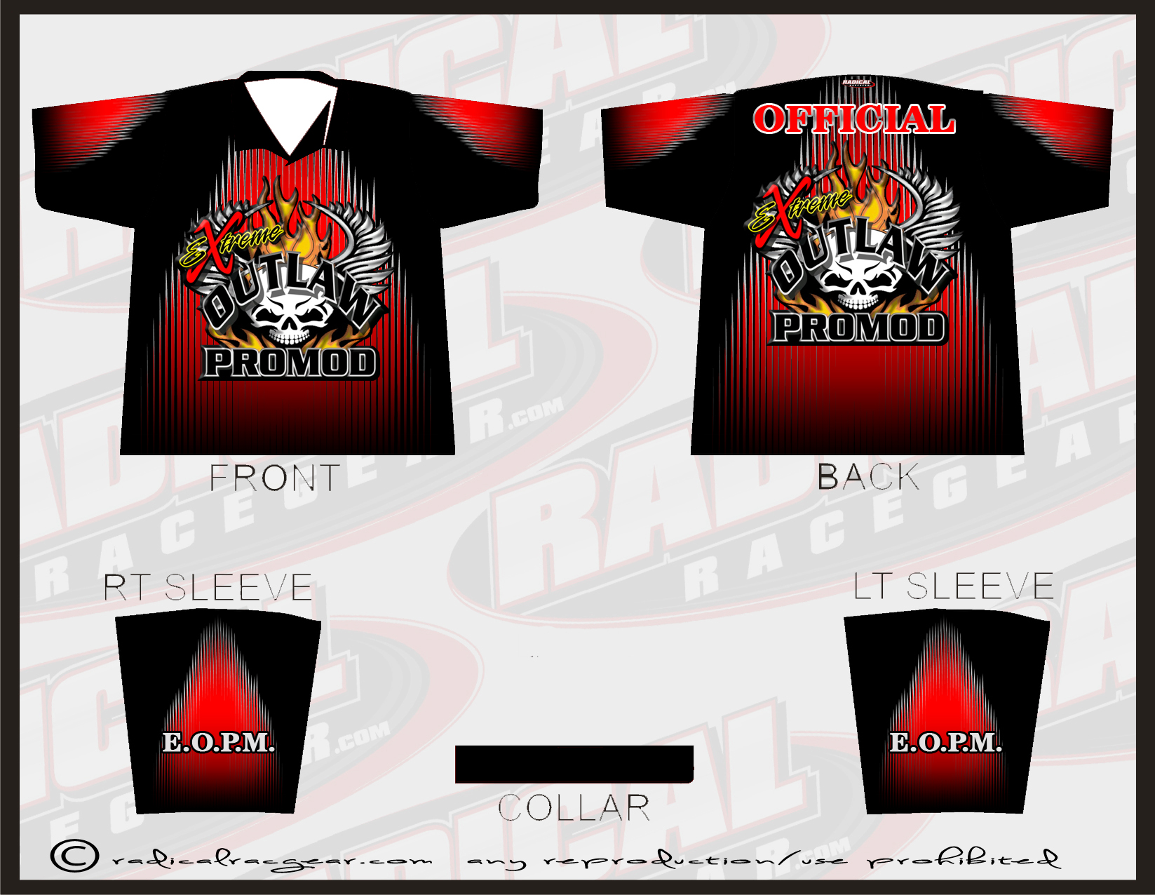 Radical Race Gear Crew Shirts