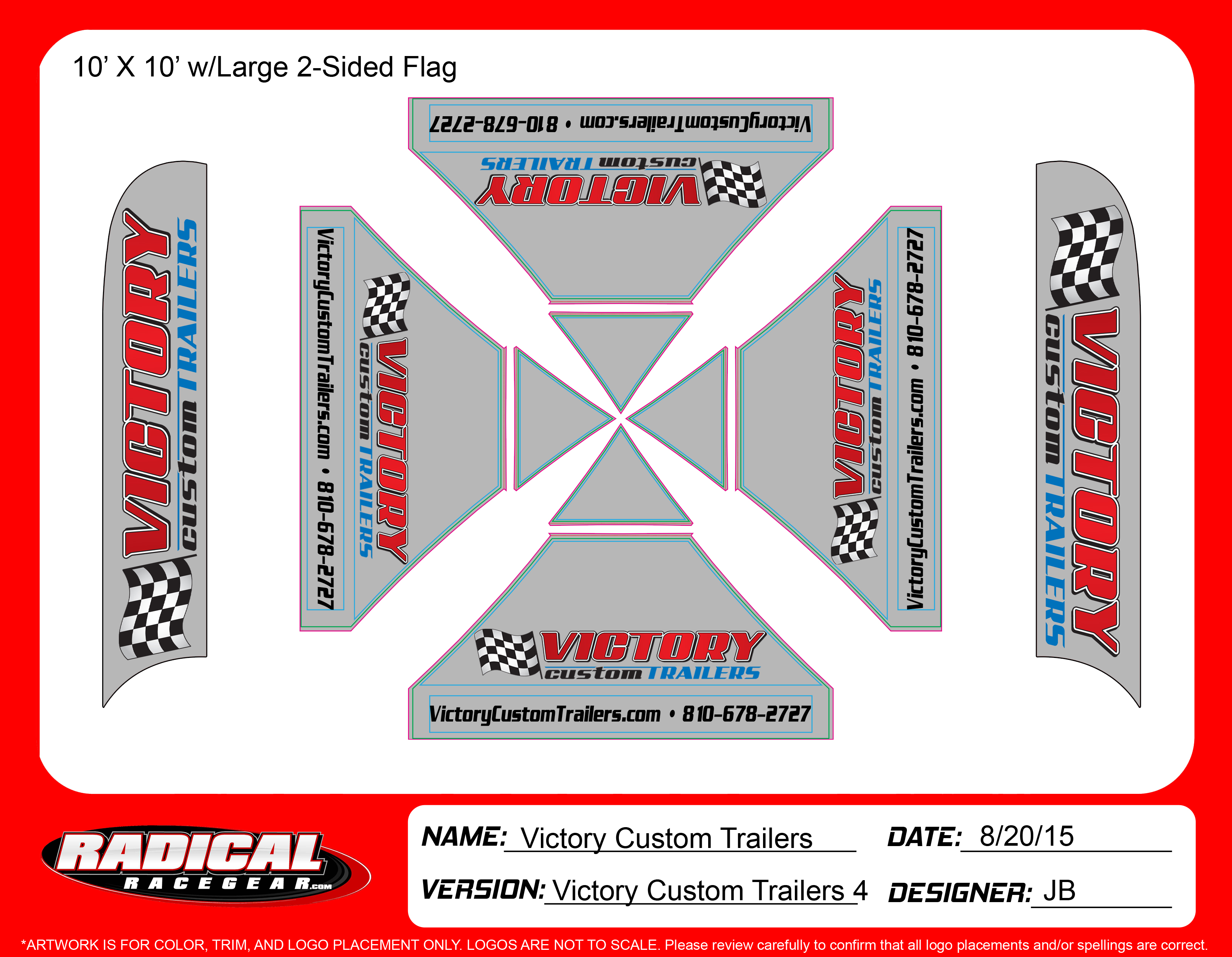 Victory Custom Trailer 10'x10'