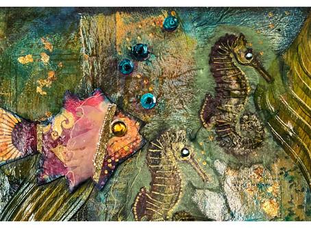 Boho Undersea Canvas