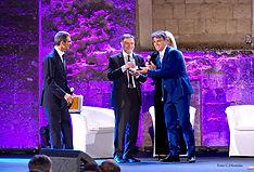 Premiazione con il campanile d'argento a Danilo Mazzoleni
