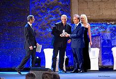 Premiazione con il campanile d'argento a Maurizio De Giovanni