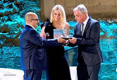 Premiazione con il campanile d'argento a Gennaro Sangiuliano