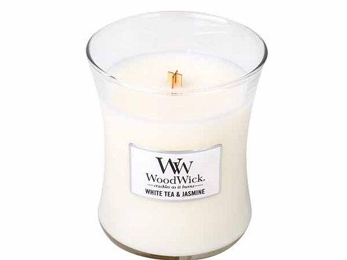 Geurkaars WoodWick White Tea & Jasmine