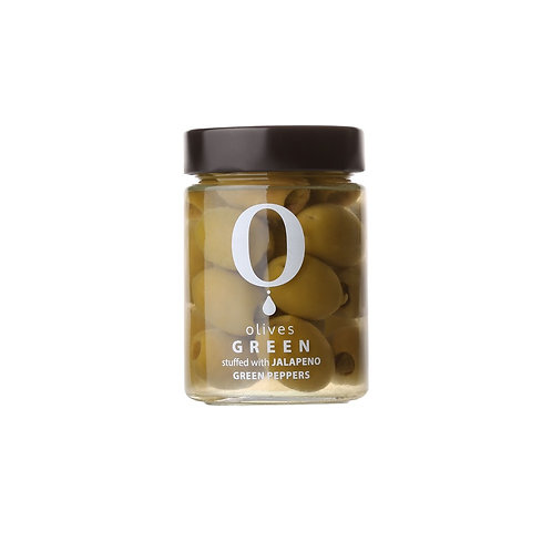 Green Olives stuffed with Jalapeno Pepper / Ελιές με καυτερή πράσινη πιπεριά
