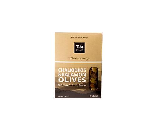 Green & Kalamon Olives / Ανάμεικτες Καλαμόν & Πράσινες Ελιές 1kg