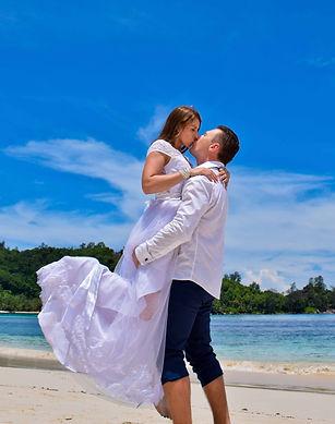 Beach wedding in seychelles