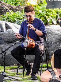 Performance with Amir KoushKani July 201