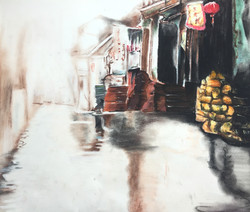 Soft Pastel and charcoal