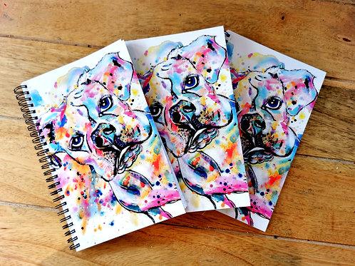 Boxer Art Print Notebook