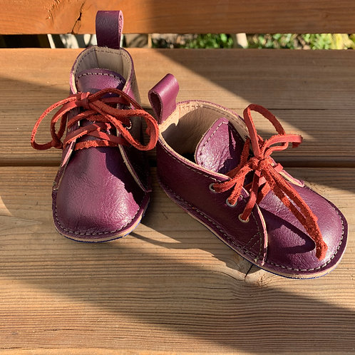 Plum - Leather Lined Mini Monkey Boot