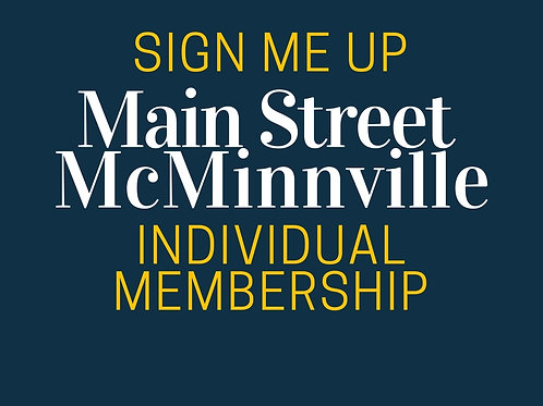 Main Street McMinnville Strictly Business Membership