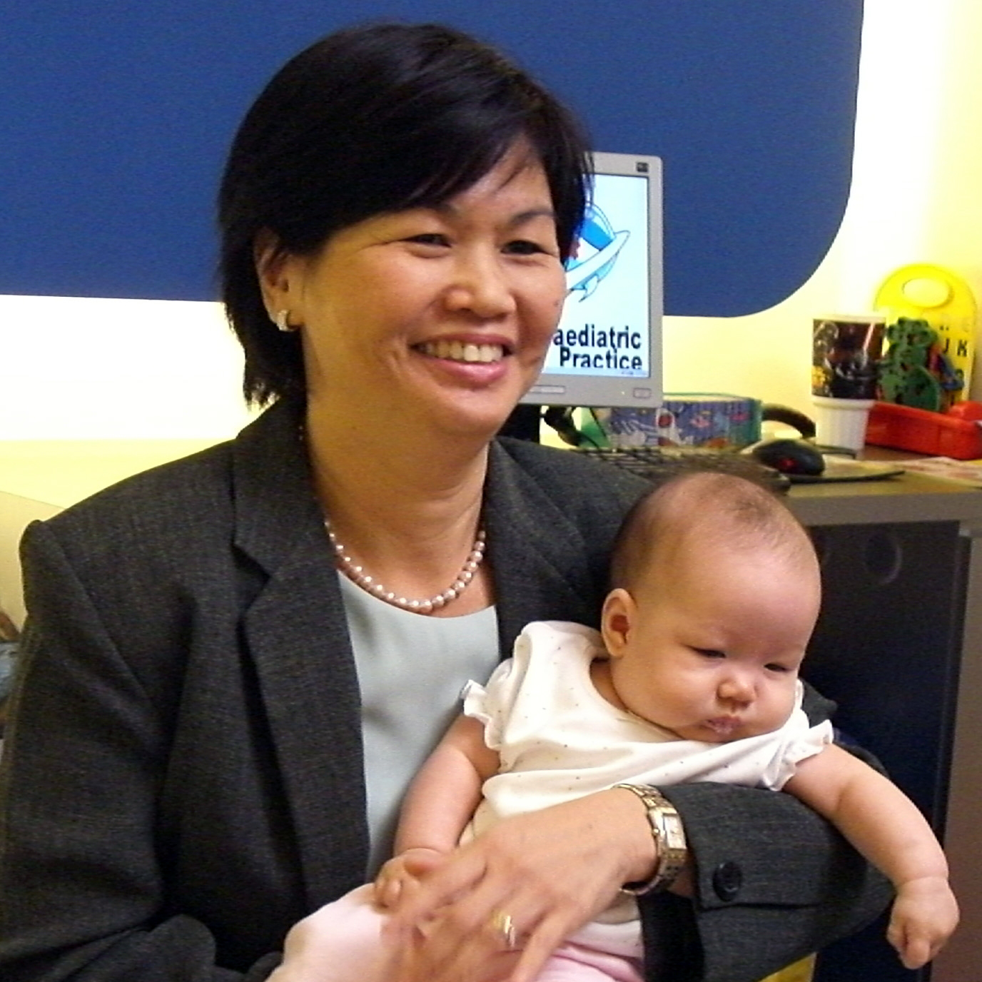 _dr chan and baby