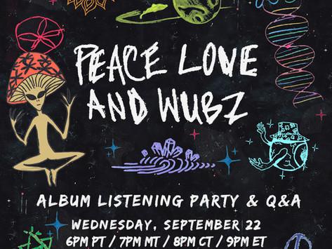 ALBUM LISTENING PARTY - TOMORROW 9/22 @ 6PM PST