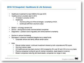 2016 1H Snapshot: Healthcare & Life Sciences