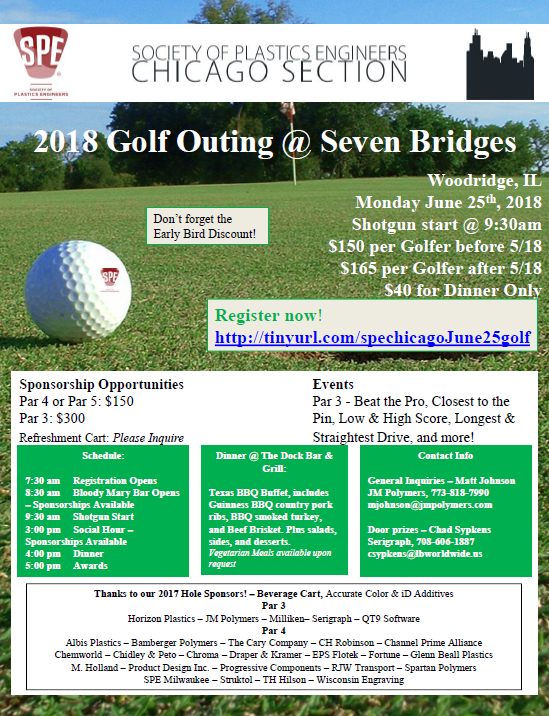 SPE Chicago Golf Outing 2018 - Register Now
