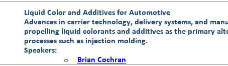 iD Additives at Molding 2016 in New Orleans, LA