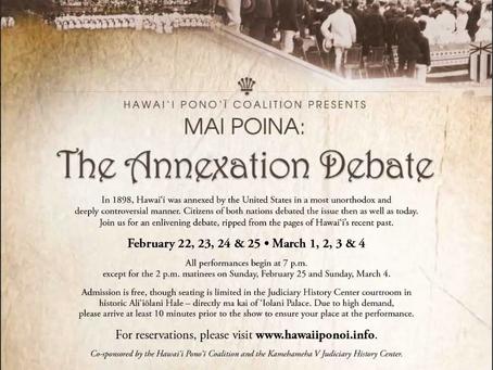 MAI POINA: The Annexation Debate