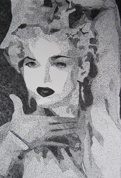 Portrait 1, Pen & Ink, 100cmx75