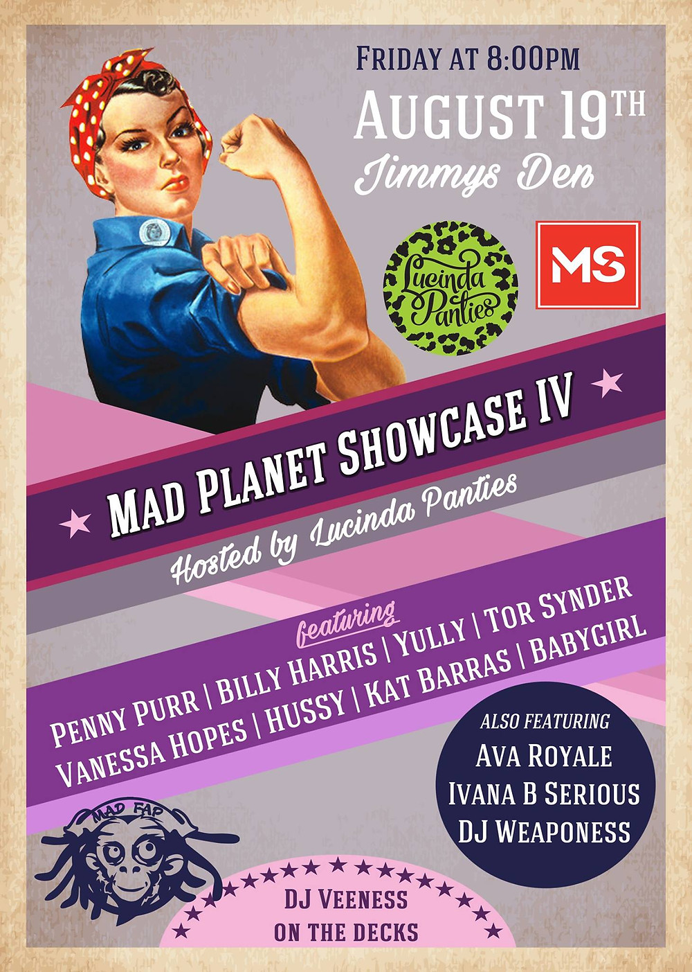 Mad Planet Showcase hosted by Lucinda Panties