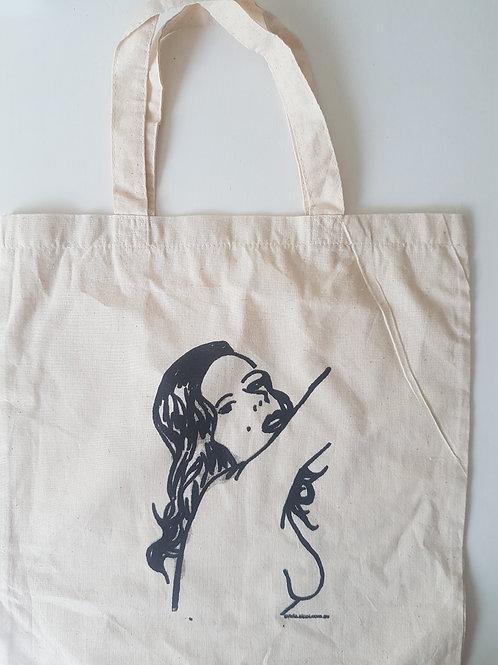 Brunette Calico Bag