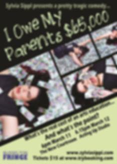 Sylvia Sippl I Owe My Parents $65,000 Busselton Fringe Festival Poster Image