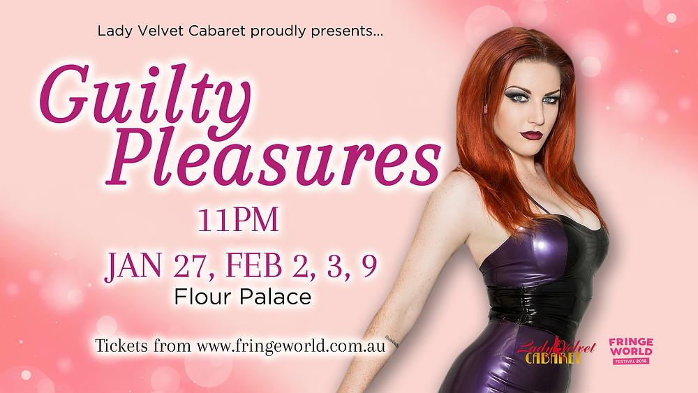 Guilty Pleasures at Fringe World 2018 Lady Velvet Cabaret