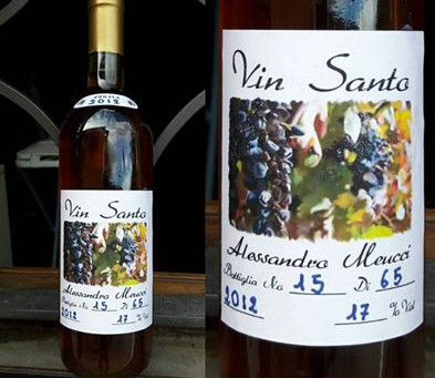 New work: Vin Santo wine label
