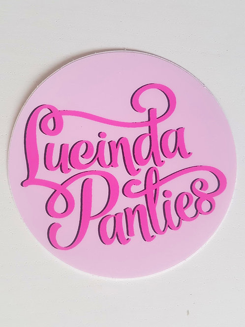 "Lucinda Panties 2.95"" Sticker"