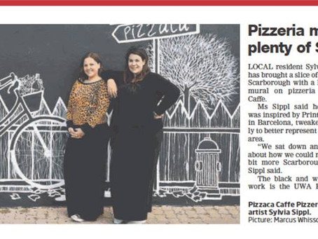 Pizzaca Mural in the Press
