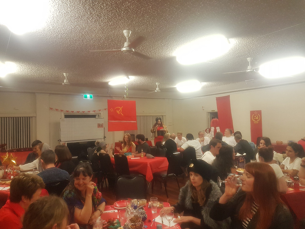 Sylvia hosting the 2017 HTAWA quiz night