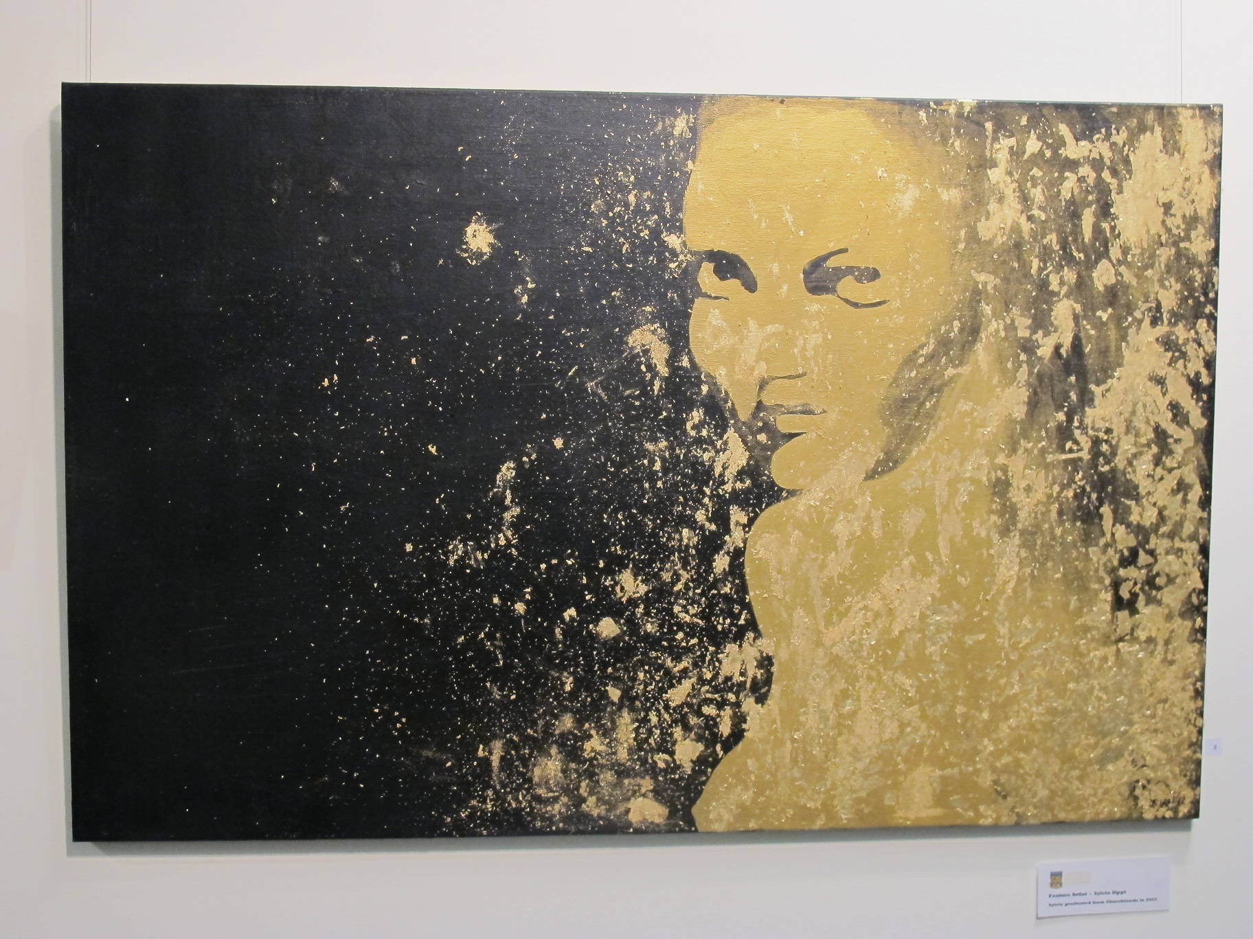 Gilded Kate, Acrylic, Gold Leaf
