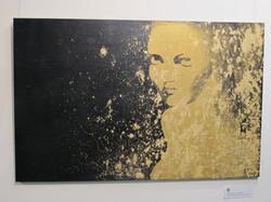 Gilded Kate, Acrylic, Gold Leaf
