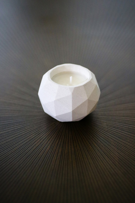 geodesic soy wax candle