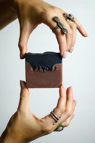 black lavender soap