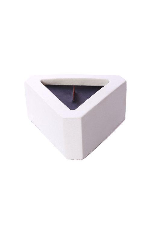Black Lavender Triangle Cement Votive