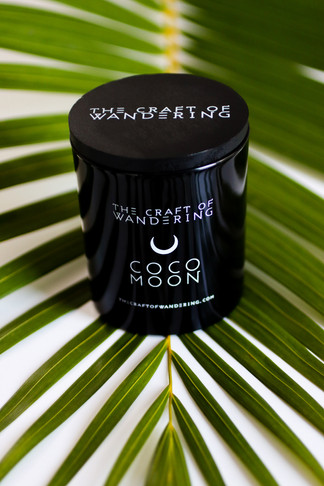 coco moon glass candle