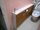 トイレ 収納カウンター 手洗い器