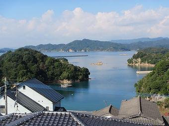 九十九島を望む眺望