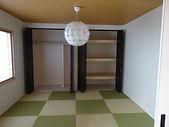 和室 和紙畳 縁なし半畳畳