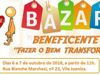 Bazar Beneficente FBT, dias 6 e 7/10
