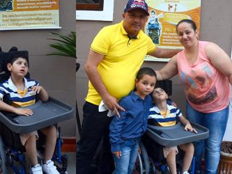 Cadeira de Tiago foi resultado do empenho de voluntários da FBT