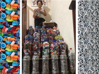 Dona Miriam juntou lacres e tampinhas para comprar cadeiras de rodas