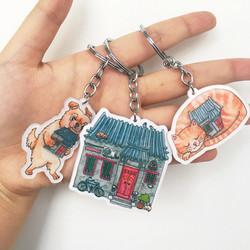 Three designs of Keychains