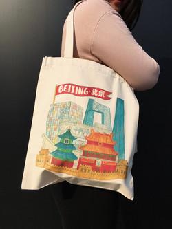 Beijing Tote Bag Beijing Liuba Draws