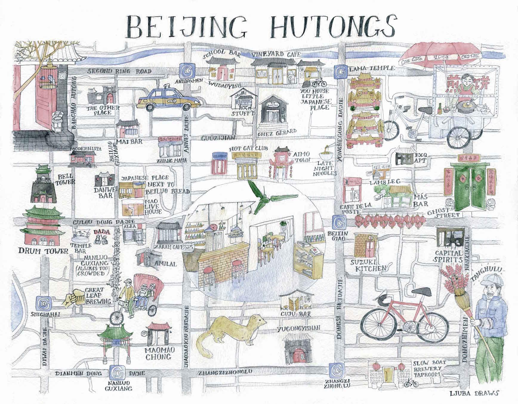Liuba Draws Map Illustration