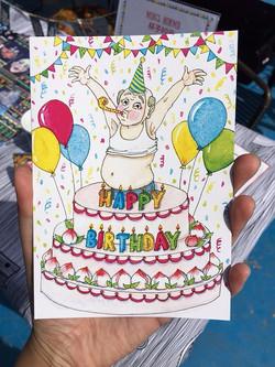 Happy Birthday Beijing Belly Card
