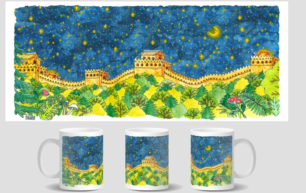 Camping At The Great Wall Mug